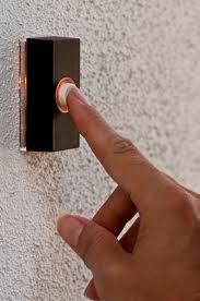 finger and doorbell