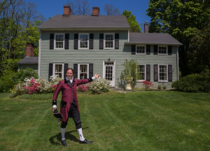 Storyteller Jonathan Kruk helps The Home Guru promote his historic home for sale by channeling its original owner, Dr. Ebenezer White.