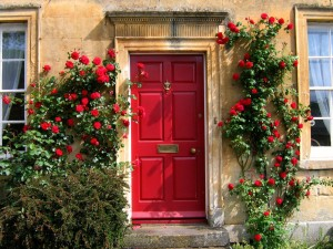 According to many traditions and feng shui consultants, front doors are best painted red.