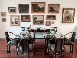The Home Guru's dining room: well-hung as an art gallery.