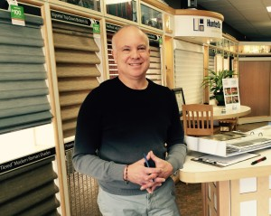 Anthony Viverito, owner of Niles Floors & Blinds in Mohegan Lake, where he waxes enthusiastically about the technology and sexiness of new Hunter Douglas window products.