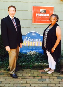 Interest in historic homes is on the rise again, says Bill Primavera, The Home Guru, here with Vicki Jimpson-Fludd, both antique home specialists, at The Ebenezer White House, adapted for business use, as are many historic structures.