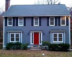 Trending: Blue houses, but not white. Red doors are in, too.