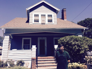 Westchester County Legislator John G. Testa of Peekskill in front of his Arts and Crafts home, in his family since 1940.