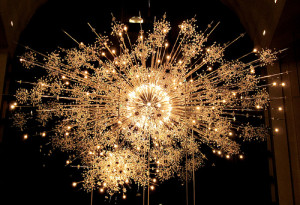 "The ""Constellation"" chandelier from the Metropolitan Opera House."